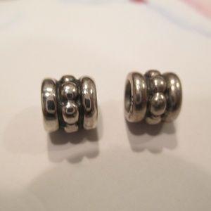 Pandora set of 2 retired bead